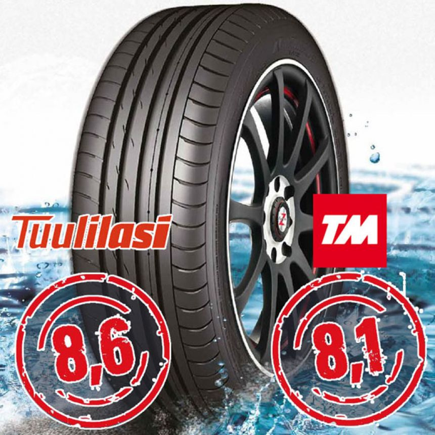 Sportnex AS-2+ TM- ja Tuulilasi-testimenestys 265/35-20 Y