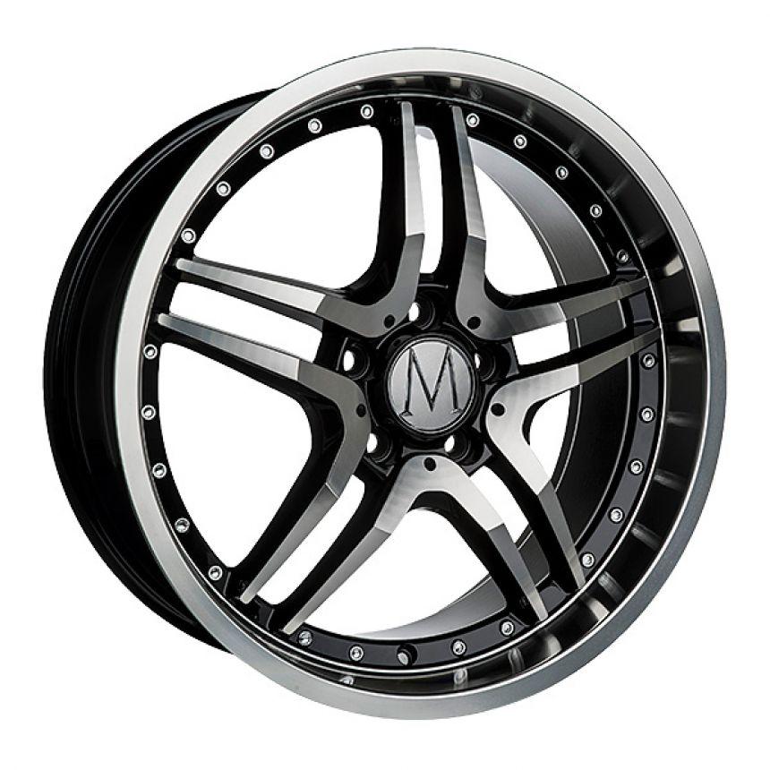 GT Black Polished Chrome Rivets