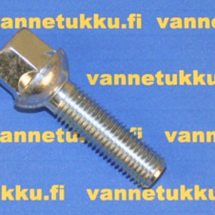 Pallokanta aluvannepulttisarja 1,5mm nousu, 12mm, pituus 28mm, 20 kpl