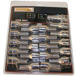 Tähtipää aluvannepulttisarja 1,25mm nousu, 12mm, pituus 28mm, 16 kpl