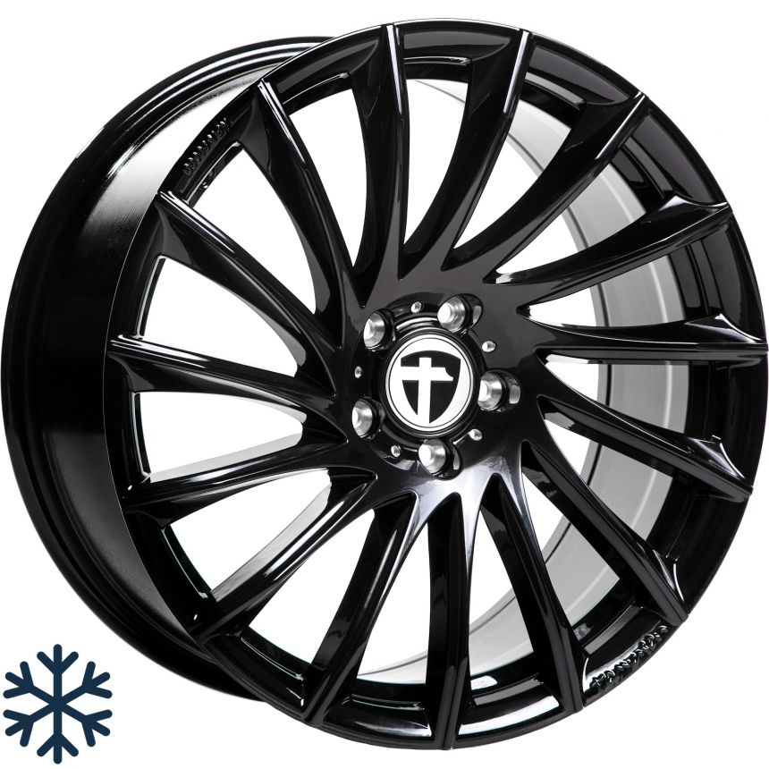 TN16 black painted 8.0x18